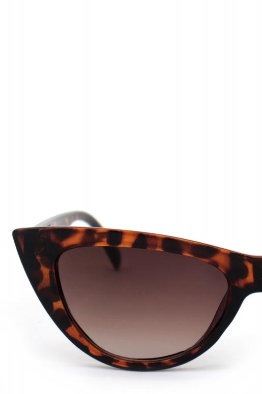 Shades Kahverengi Degrade Camlı Cat Eye Güneş Gözlüğü Leopar