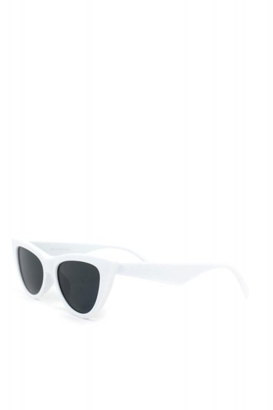 Shades Siyah Camlı Cat Eye Güneş Gözlüğü Beyaz