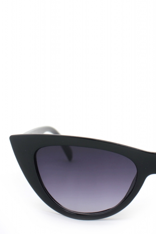 Shades Siyah Degrade Camlı Cat Eye Güneş Gözlüğü Siyah
