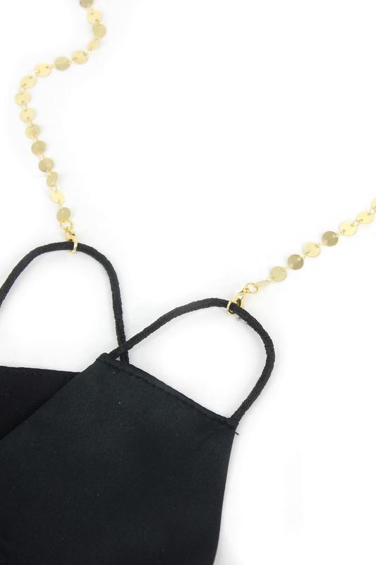 Shine Minik Pullu Maske Zinciri Gold 50cm