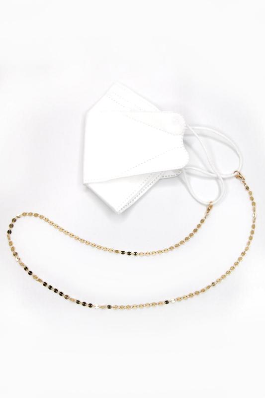 Shine Minik Pullu Maske Zinciri Gold 75cm