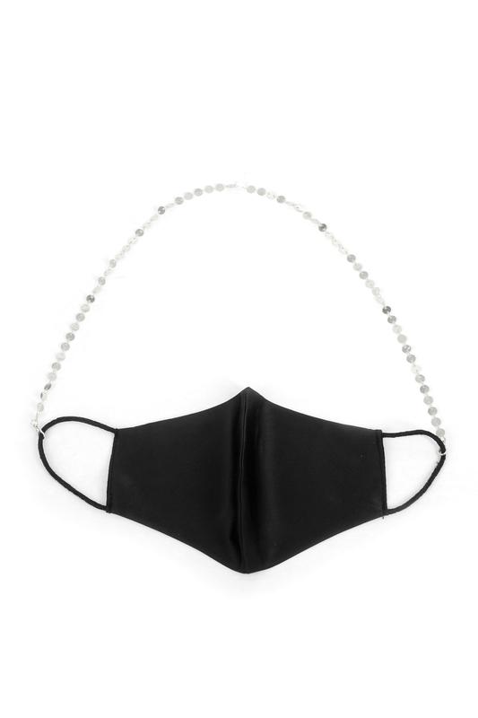 Shine Minik Pullu Maske Zinciri Silver 50cm