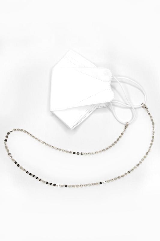Shine Minik Pullu Maske Zinciri Silver 75cm
