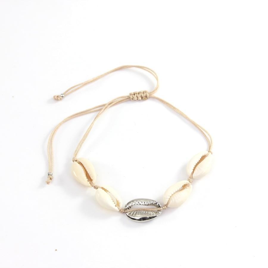 Silver Boncuklu Doğal Deniz Kabuğu Bileklik