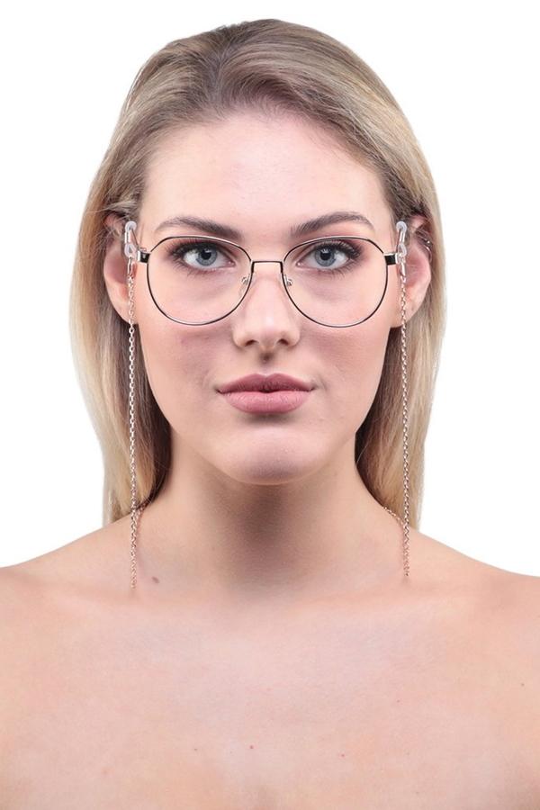 Simple İnce Gözlük Zinciri Silver