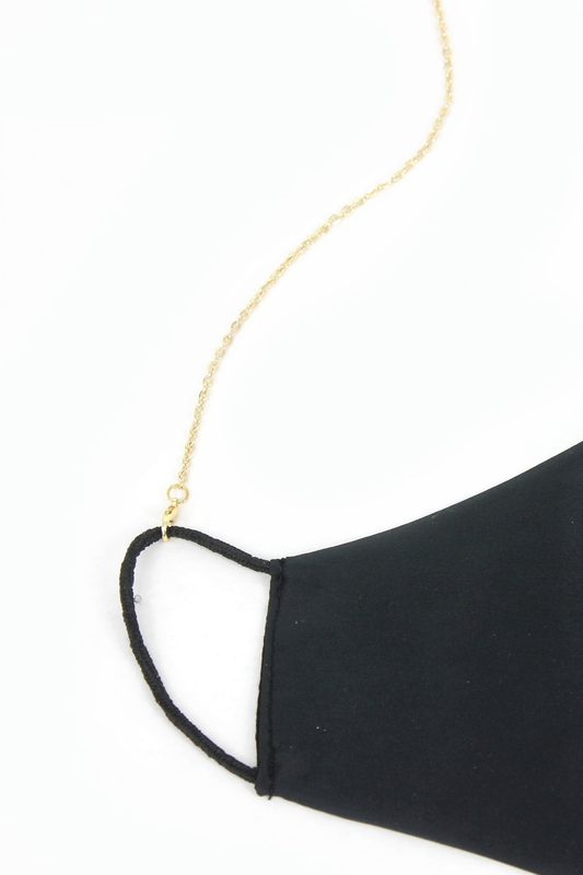 Simple İnce Maske Zinciri Gold 75cm