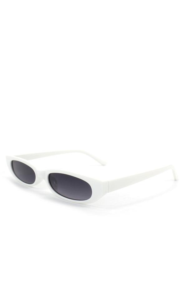 Slim Love Küçük Köşeli Güneş Gözlüğü Beyaz
