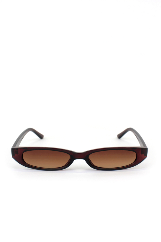Slim Love Küçük Köşeli Güneş Gözlüğü Kahverengi