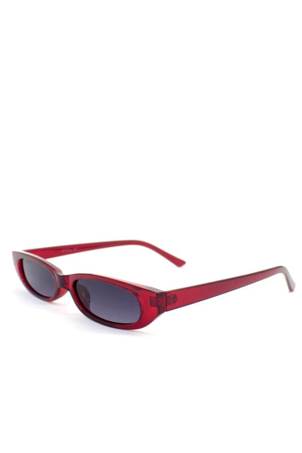 Slim Love Küçük Köşeli Güneş Gözlüğü Kırmızı