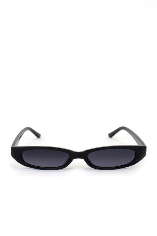 Slim Love Küçük Köşeli Güneş Gözlüğü Siyah