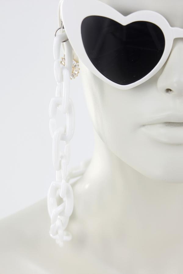 Soho Kalın Gözlük Zinciri Beyaz