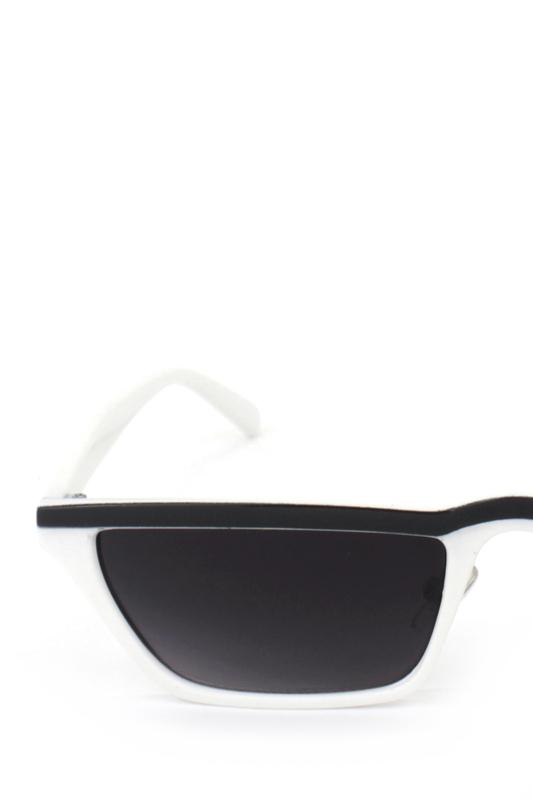 Summer Hot Cat Eye Köşeli Bayan Güneş Gözlüğü Siyah Çizgili Beyaz