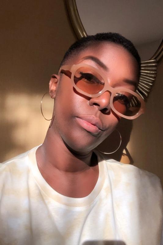 Talin Kahverengi Camlı Oval Bayan Güneş Gözlüğü Karamel