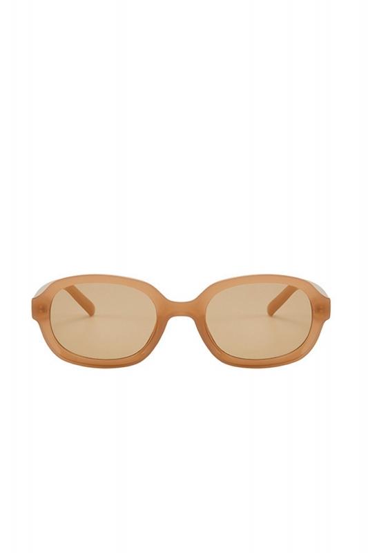 Talin Kahverengi Camlı Oval Erkek Güneş Gözlüğü Karamel