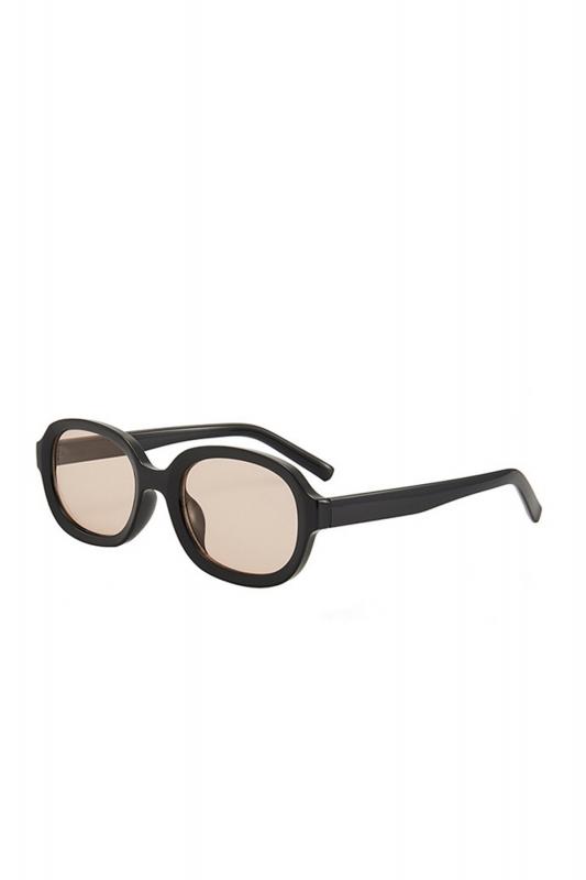 Talin Kahverengi Camlı Oval Erkek Güneş Gözlüğü Siyah