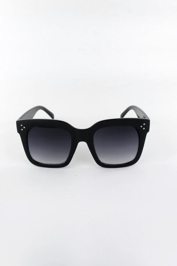 Tilda Kalın Kare Çerçeveli Güneş Gözlüğü Degrade Camlı Siyah