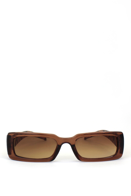 Tina Kahverengi Camlı Dikdörtgen Güneş Gözlüğü Kahverengi