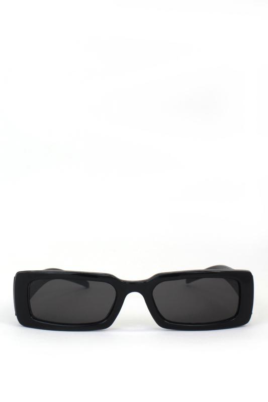 Tina Siyah Camlı Dikdörtgen Güneş Gözlüğü Siyah