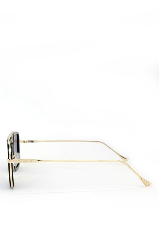 Tony Gold Metal Çerçeveli Füme Degrade Camlı Erkek Güneş Gözlüğü Siyah