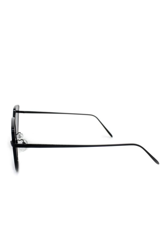 Too Cool Siyah Metal Çerçeveli Cat Eye Bayan Güneş Güneş Gözlüğü Aynalı Gümüş