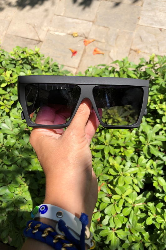 Top-Flat Kare Büyük Unisex Güneş Gözlüğü Mat Siyah