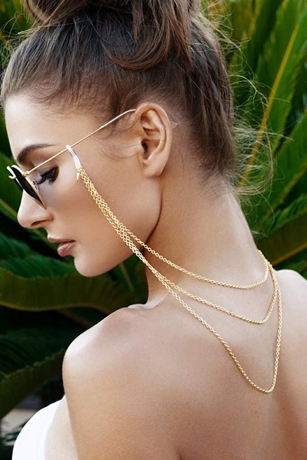 Tria 3 Sıra Gözlük Zinciri Gold