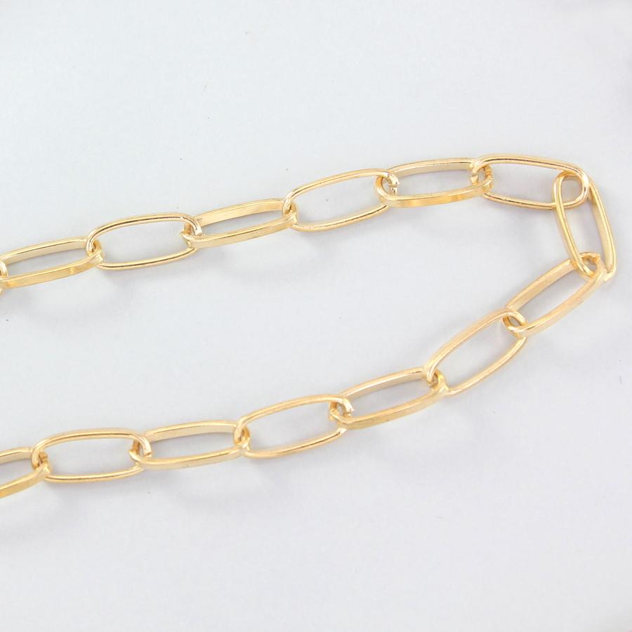 Uzun Oval Zinciri Gözlük Zinciri Gold