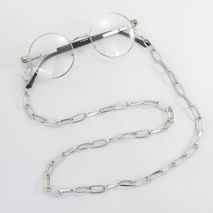 Uzun Oval Zinciri Gözlük Zinciri Silver