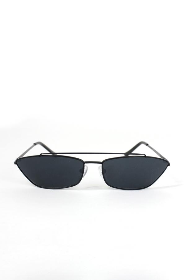 Vroom Siyah Metal Çerçeveli Köprülü Küçük Güneş Gözlüğü Siyah