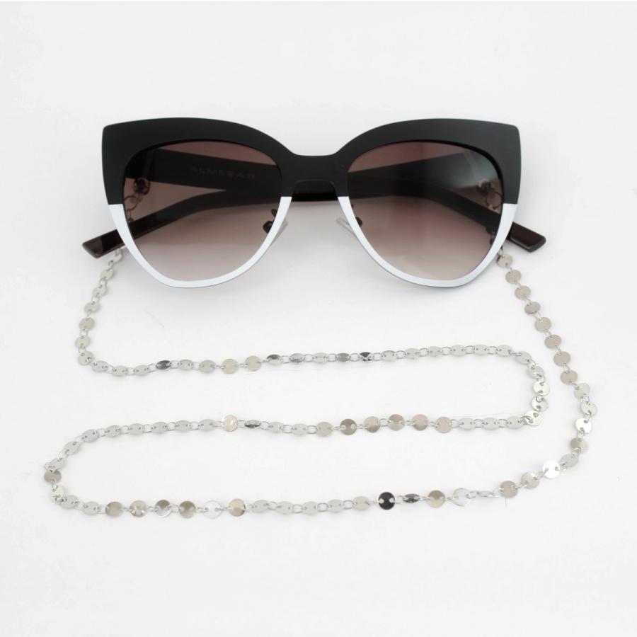 Yuvarlak Pullu Gözlük Zinciri Silver